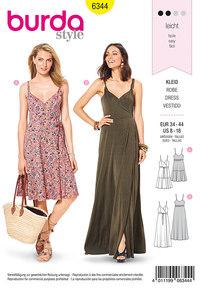 Wrap dress. Burda 6344.