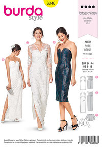 Special occasion dress. Burda 6346.
