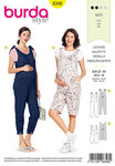 Loose-fitting bibbed overalls/jumpsuit with plenty of room for your tummy – super comfy and versatile to mix and match. The straps can either be tied or buttoned. Elastic gathers the back waist.