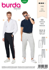 Men´s pants. Burda 6350.