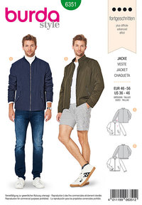 Men´s jacket. Burda 6351.