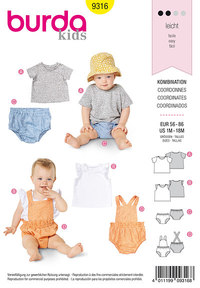 Baby sportswear. Burda 9316.