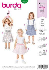 Child´s pinafore skirt. Burda 9319.