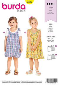 Child´s pinafore dress. Burda 9320.