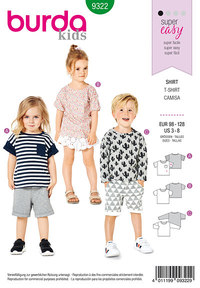 Childs top. Burda 9322.