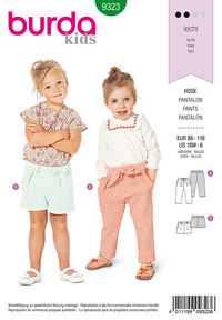 Toddler´s elastic waist pants. Burda 9323.