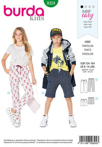 Child´s elastic waist pants. Burda 9324.