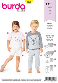 Toddler´s sleepwear . Burda 9326.