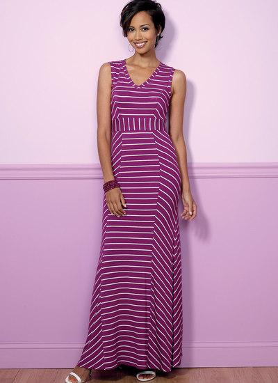 V-Neck or Scoopneck, Princess Seam Dresses