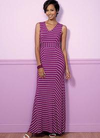 V-Neck or Scoopneck, Princess Seam Dresses. Butterick 6449.