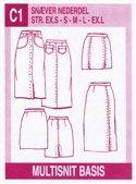 Multisnit C1. Tight skirt.