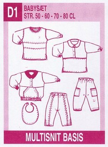 Baby outfits. Multisnit D1.