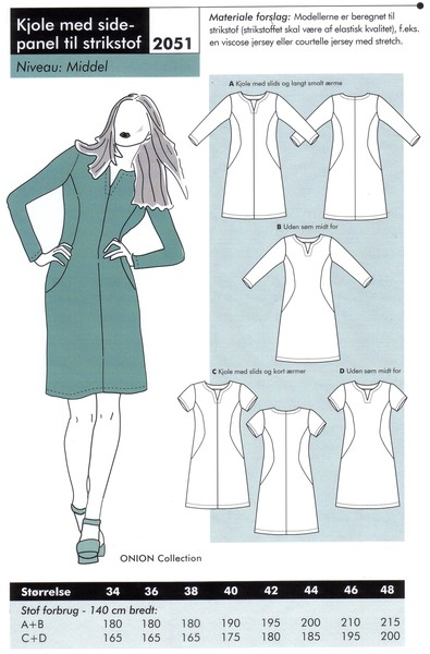 Dress with sidepanel for knits