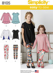 This Easy-to-Sew knit tunic and leggings pack for child and girl is a must have essential. Make tunic and leggings in a multitude of colors and prints for an outfit that can be worn for endless hours of fun.