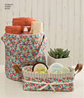 Fabric buckets, baskets and totes are perfect for storing and organizing your stuff. All organizers feature contrast lining and handles for easy moving. Carla Reiss Design for Simplicity.