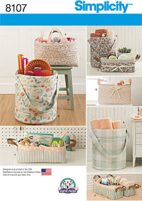 Bucket, Basket and Tote Organizers. Simplicity 8107.