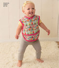 Get all the baby accessories you need in the fun pattern designed by Andrea Schewe. Pattern includes floor play mat, high chair play mat, stroller blanket and organizers, and wrap around apron bibs.