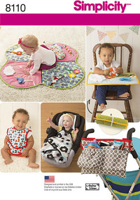 Babies Play Mats, Stroller Accessories, and Bibs. Simplicity 8110.