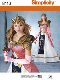 Misses Costume with Craft Foam Armor, Belt and Crown. Simplicity 8113.