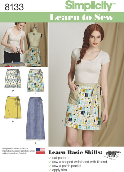 3 MissesLearn to Sew Wrap Skirts