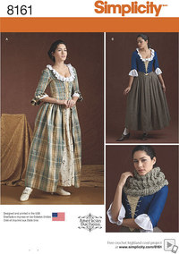 Misses´ 18th Century Costumes. Simplicity 8161.