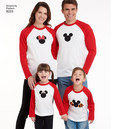 3 Child´s and Adults Knit Tops with Disney Appliques
