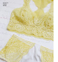 Lovers of lace get inspired with these bra and panties by Maddie Flanigan. Pattern includes soft cup bras in halter or racer back, and panties with scalloped lace trimmings. Bras sized 32A to 42DD, panties sized XS-XL. Instructions for determining bra siz