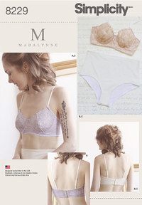 9 Misses´ Underwire Bras and Panties. Simplicity 8229.