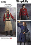 Men´s costume pattern from Arkivestry is just what you need to create your favorite cosplay character. Pattern includes jacket and coat, both with contrast collars, and sleeve cuffs, long belted vest with contrast lapels, and hood with contrast front patc.