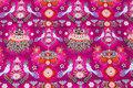 Fuchsiafarvet fiona hewitt cotton-jersey with birds.