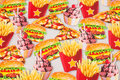 Fun cotton-jersey with burgers and french fries etc..