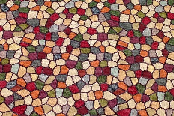 Jacquard-woven furniture gobelin with mosaic-pattern