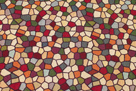 Jacquard-woven furniture gobelin with mosaic-pattern