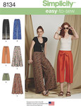 Simplicity 8134. 4 Misses Easy-to-Sew Trousers and Shorts.