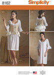 Simplicity 8162. 2 Misses´ 18th Century Undergarments.