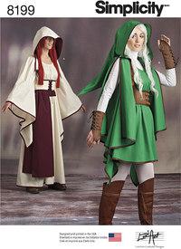 Misses´ Gaming Warrior Costumes. Simplicity 8199.