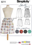 Misses´ easy to sew dirndl skirts with grown on waistband are the perfect feminine pieces to add to your wardrobe. Skirt in three lengths; midi with optional galoon edge lace overlay, just below or just above the knee. Make in a kitschy print for a truly