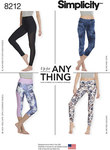 """Knit legging pattern sized XXS-XXL is a wardrobe essential - perfect for active wear fabrics, or fashion knits. Pattern includes Trousers with 4"""" waistband in ankle or cropped length with contrast side panel, or can be made with 2"""" waistband in ankle or c"""