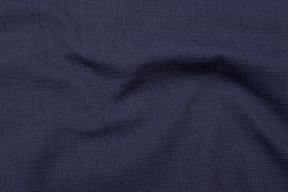 Structure-woven, thick, dark dove-blue furnishing fabric