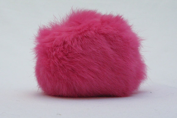 Fur pompon, shocking pink 8cm