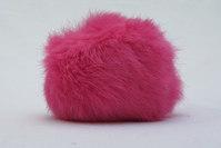 Fur pompon, shocking pink 8cm