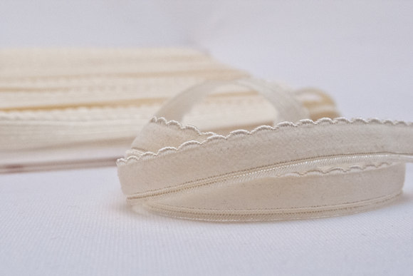 Elastic lace off white 1cm