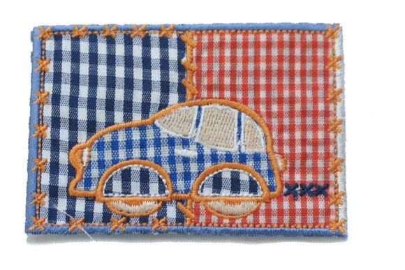 Patchwork squared car 8x5cm
