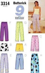 Butterick pattern: Petite Top, Shorts & Pants