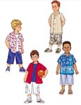 Butterick 3475. Shirt and Shorts for children.