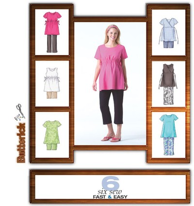 Petite Maternity Top, Shorts And Pants