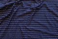 Dusty navy blue viscose-jersey with small white dots