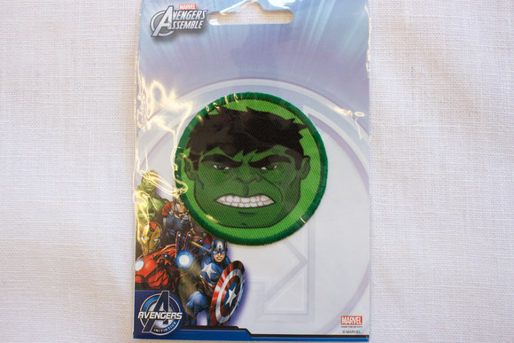 Hulk face patch, diameter 5,5cm
