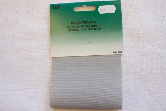 Twill patch, grey 10x40cm