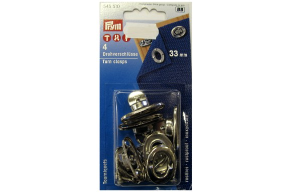 Twist fasteners, 33 mm, 4 pcs